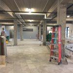 Une des salles du rez-de-chaussée qui sera terminée sous peu