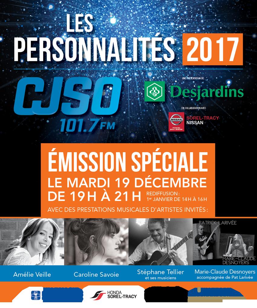 Les personnalités 2017 CJSO (artistes)