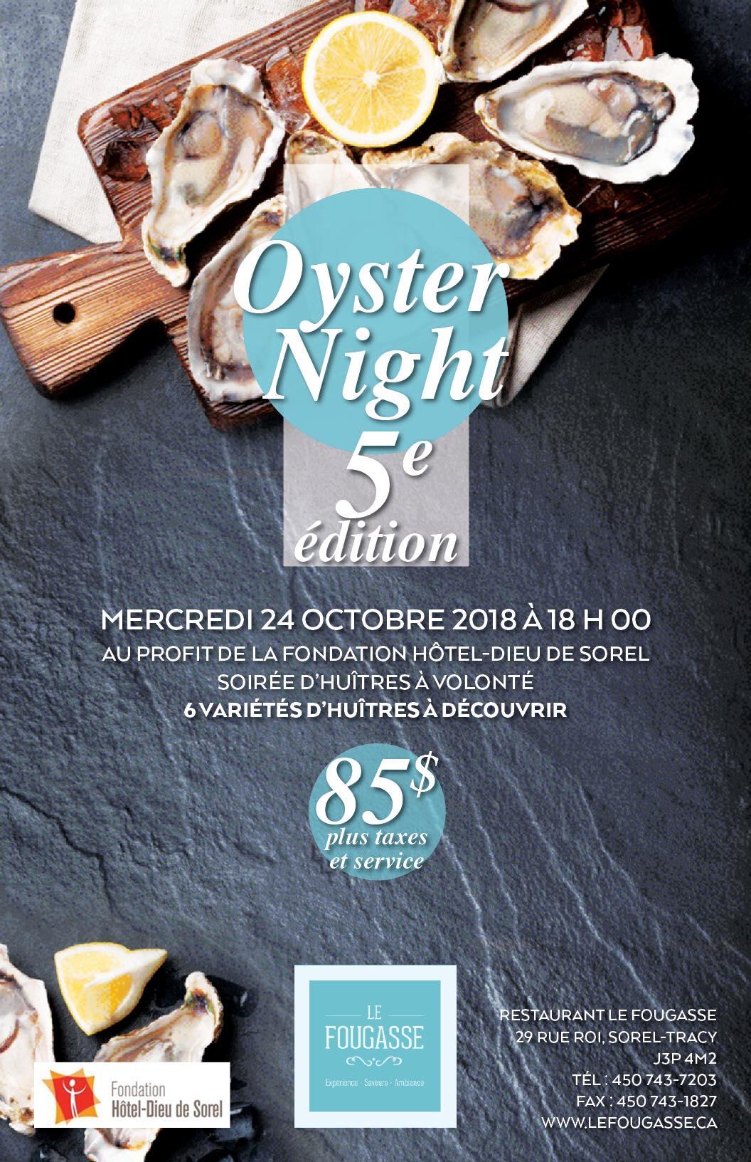 affiche oyster nigh 5e édition fondation hotel-dieu
