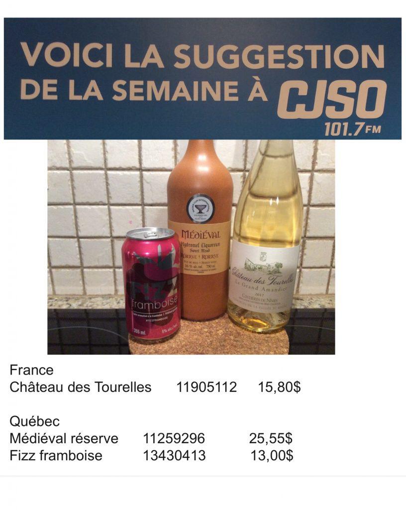 Chronique Univers des vins 23 novembre
