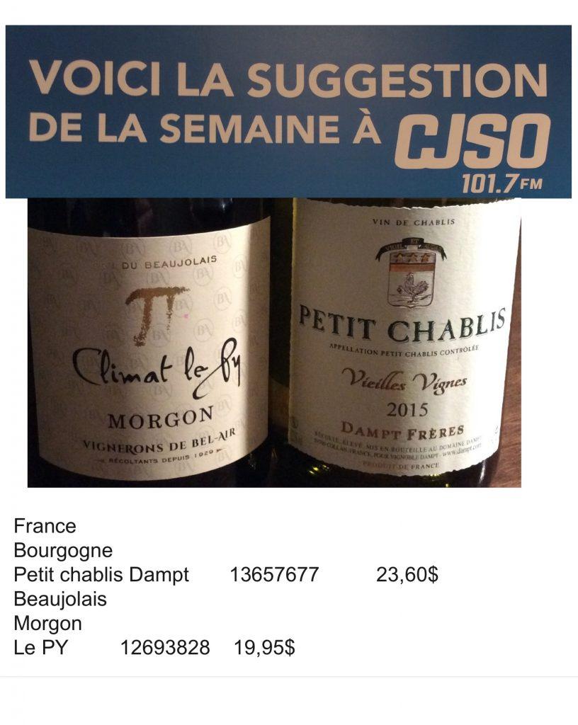 chronique des vins 30 novembre