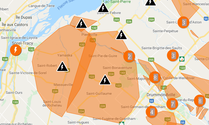 pannes majeures électricité 28 novembre 2018